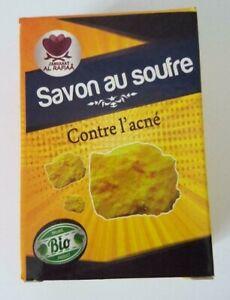 Moroccan Natural Sulphur Soap Antibacterial Acne Eczema Skincare