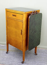 Vintage Wood Doctor Dentist Medical Cabinet Apothecary Industrial Side Table Old