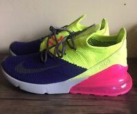 Men's Nike Air Max 270 Flyknit Size 11.5 AO1023 501 Purple/Gray