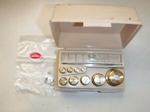 NEW OHAUS CLASS 6  Sto-A-Weight Calibration Weight Set 10mg to 100 grams