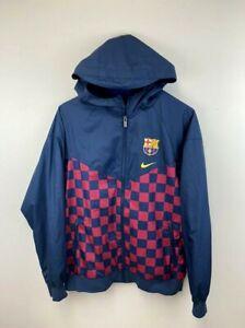 Nike Youth XL FC Barcelona Kids Windrunner Jacket Windbreaker Front Zip
