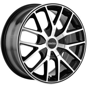 "Touren TR60 17x7.5 5x5"" +42mm Black/Machined Wheel Rim 17"" Inch"