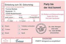 10 lustige Einladungskarten Geburtstag Einladungen jedes Alter 18 30 40 60 Arzt