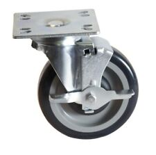 "Bk Resources Plate Caster Kit 5"" Diameter with 4"" x 4"" Top Plate"
