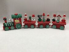 New Very Cute Wooden Christmas Train Decoration