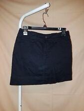 NWT~ St. John's Bay ~Women's 4 Petite~ BLACK Cotton/SPANDEX SKORT SKIRT