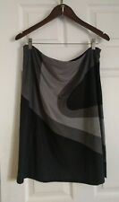 Kenneth Cole New York Faux Suede Color Block A-Line Skirt (Women Size L)