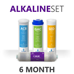 6 Month Alkaline Reverse Osmosis / Under Sink Replacement Filter Set – 4 Filters
