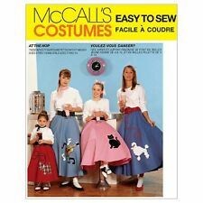New Uncut MCCALLS PATTERN M6101 1950s Poodle Skirt Petticoat COSTUMES Girls 7-14