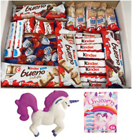 LARGE-KINDER BUENO-HIPPO-HAMPER-BOX-GIFT BIRTHDAY KIDS PRESENT EASTER UNICORN