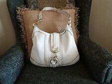 Coach Hamptons White/Cream Leather Shoulder Bag #10554