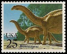 Us 2425 Prehistoric Animals Brontosaurus 25c single Mnh 1989