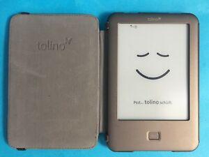 Tolino Shine eBook Reader 6 Zoll 4GB Touchscreen WLAN E-Ink Beleuchtung braun