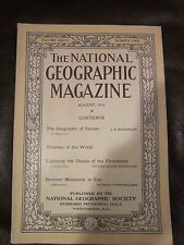 Vintage National Geographic August 1919 The Geography of Games - Ads