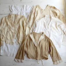 Edwardian 1920s Blouse x 4 & Underskirt Petticoat Cotton Silk Lace For Study