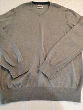Howick Cashmere Blend Mens Jumper Sweater Grey V Neck XL