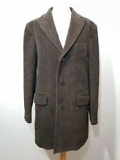Massimo Dutti Mens Size L 48 Cotton Blazer Jacket Chocolate Brown Coat Suede