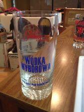 RARE VINTAGE POLMOS POLAND POLISH VODKA WODKA WYBOROWA TALL GLASS