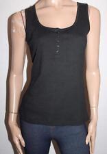 suzannegrae Designer Black Rib Knit Tank Top Size M BNWT #SY46