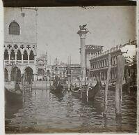 Venezia Italia Foto Placca Da Lente Stereo K11 Vintage Ca 1910