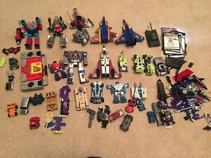 Transformers G1 Lot - Grimlock, Sludge, instructions, extra weapons and more
