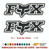 2 PEGATINAS FOX RACING BICI MOTO VINILO SPONSOR VINYL AUFKLEBER AUTOCOLLANT LOGO
