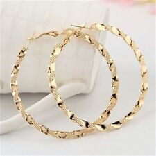 Large Big Gold Silver Hoop Loop Earrings Circle Chic Women Girls Jewelry Bridal