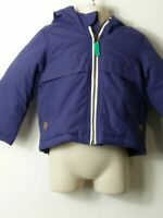 BOYS MINI CLUB AGE 9-12 MONTHS BLUE HOODED PADDED COAT JACKET KIDS