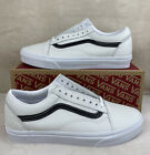 Vans Leather Pop Old Skool Leather Shoes Mens Size 9 Womens 10.5 (White/Black)