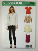 New Look Womens Top Blouse Pattern 6303 Sz 8-20 Simplicity UNCUT Español