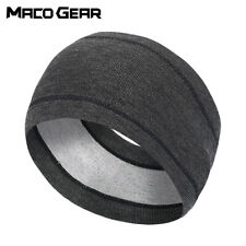 Winter Thermal Headband Fleece Ear Covers Warmer Sweatband for Men Women Running