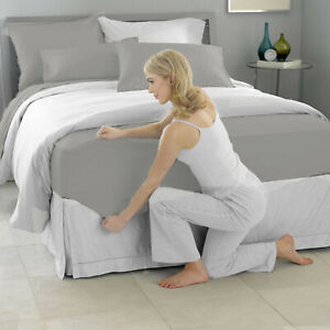 New Ultra Soft Solid Fitted Sheet Single/Double/Queen/King Bed Size Pillowcase