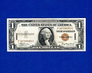 1935-A $1 HAWAII World War 2 Emergency Issue Silver Certificate CRISP HIGH GRADE