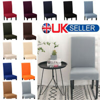 UK 6/10PCS Dining Chair Covers Spandex Slip Cover Stretch Wedding Banquet Party