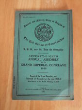 78th Annual Assembly Grand Imperial Conclave Report & Accounts for year 1948-49