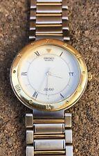 Seiko Day Date Quartz SQ 100 5H22-1689 Two Tone Gold 35mm 100m Mens Watch