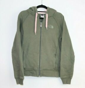 The North Face Green Pink Insert Women's Hoodie Full Zip Size L