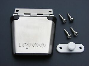 One IGLOO Cooler Stainless Steel Metal Latch & Post Replacement Part Ice Chest