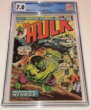 INCREDIBLE HULK #180 ~ 1st WOLVERINE cameo appearance 1974 ~ CGC 7.0 NICE!!