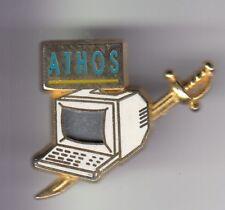RARE PINS PIN'S .. INFORMATIQUE COMPUTER PC TOUR LOGICIEL EPEE ATHOS FRANCE ~D2