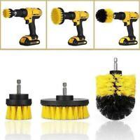 3 Pcs/Set Electric Drill Brush Bristle Cleaning Head for Car Tile Carpet Floor