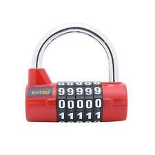 KATSU Digital Pad Lock Professional 5 Digits Red