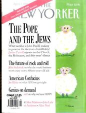 NEW YORKER MAGAZINE 7 APR 1997, THE POPE AND THE JEWS, AMERICAN CONFUCIUS,
