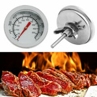 Stainless Steel 50500℃Barbecue BBQ Pit Smoker Grill C4Y8 Temp Thermometer G A9N5