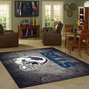 Buffalo Bills Anti-Skid Area Rug Living Room Bedroom Soft Fluffy Floor Carpets