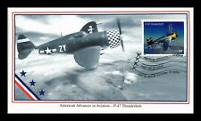 DR JIM STAMPS US P 47 THUNDERBOLT AMERICAN AVIATION UNSEALED FDC MYSTIC COVER