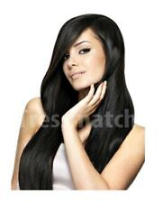 "20""-22"" Off Black Remy Clip in Human Hair Extentions Premium Qualtiy Full Thick"