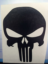 "2X--5"" Punisher Skull Decal Black or White 2 for the price of 1"