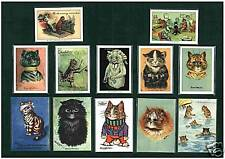 CATS - CRYSTAL CAT CARDS  - LOUIS WAIN CAT CARDS -  ALL  13  DIFFERENT  SETS  !!