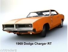 1969 Dodge Charger RT  Auto Refrigerator / Tool Box  Magnet